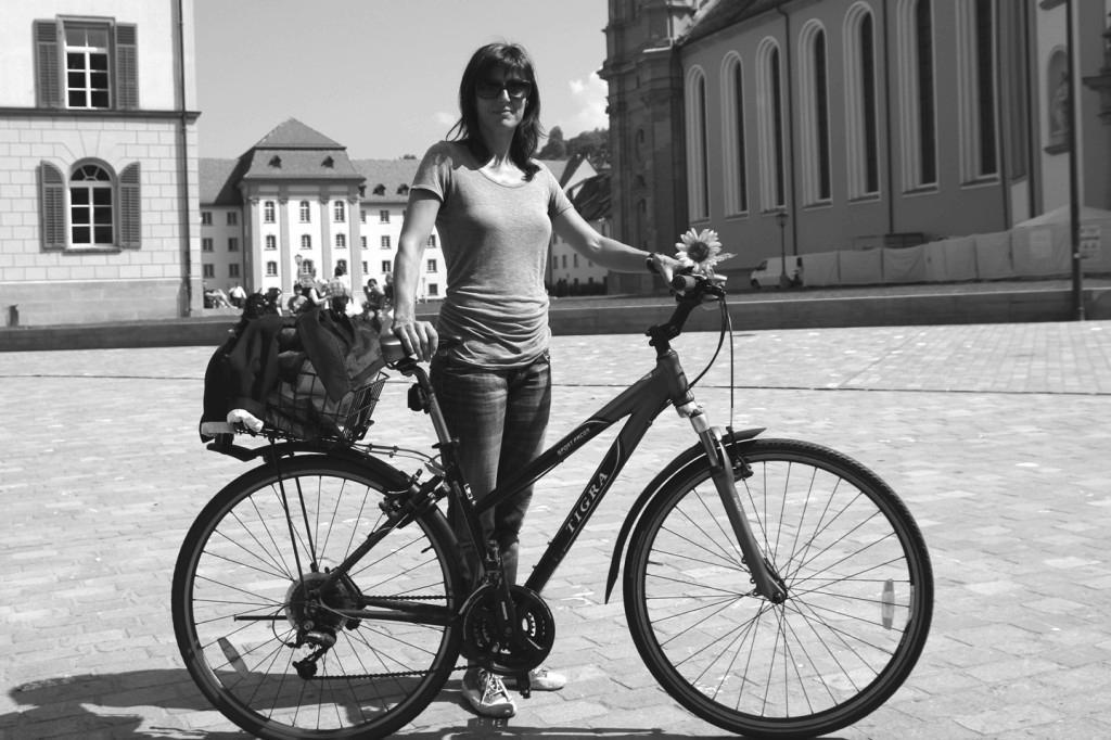 """Christine Enz: """"St.Gallen ist für mich keine geeignete Velostadt, weil die Strassen viel zu schmal sind."""""""