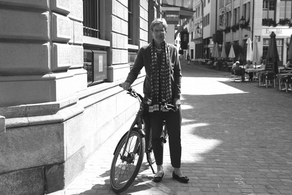 """Christine Huber: """"Mein Arbeitsweg ist sehr steil, deswegen habe ich mir ein E-Bike zugelegt."""""""
