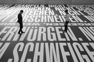 UV-Druck auf Vinyl, Boden 21 x 23 m Ausstellungsansicht 1. OG, Kunsthaus Bregenz, Foto ©: Christian Hinz