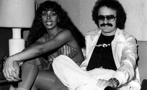 Sommer 1977, Backstage, Donna Summer und Giorgio Moroder im Shrubber's Winterthur.