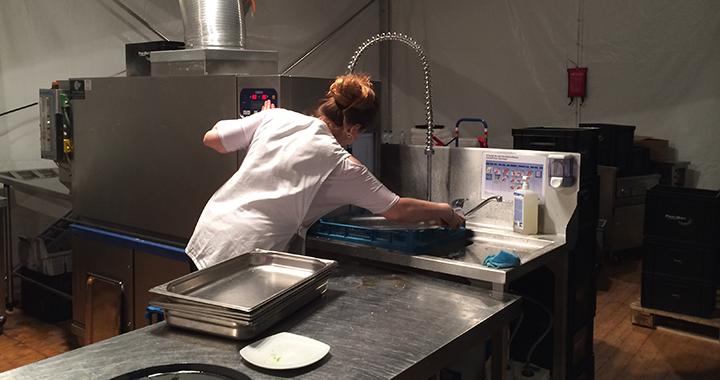 Endstation Waschmaschine: eine von drei grossen Waschstrassen am CSIO.
