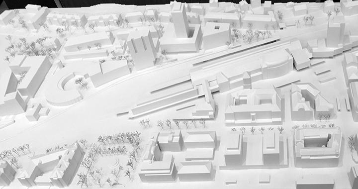 Synthese der Testplanungen im Modell (Bilder: Stadt St.Gallen)