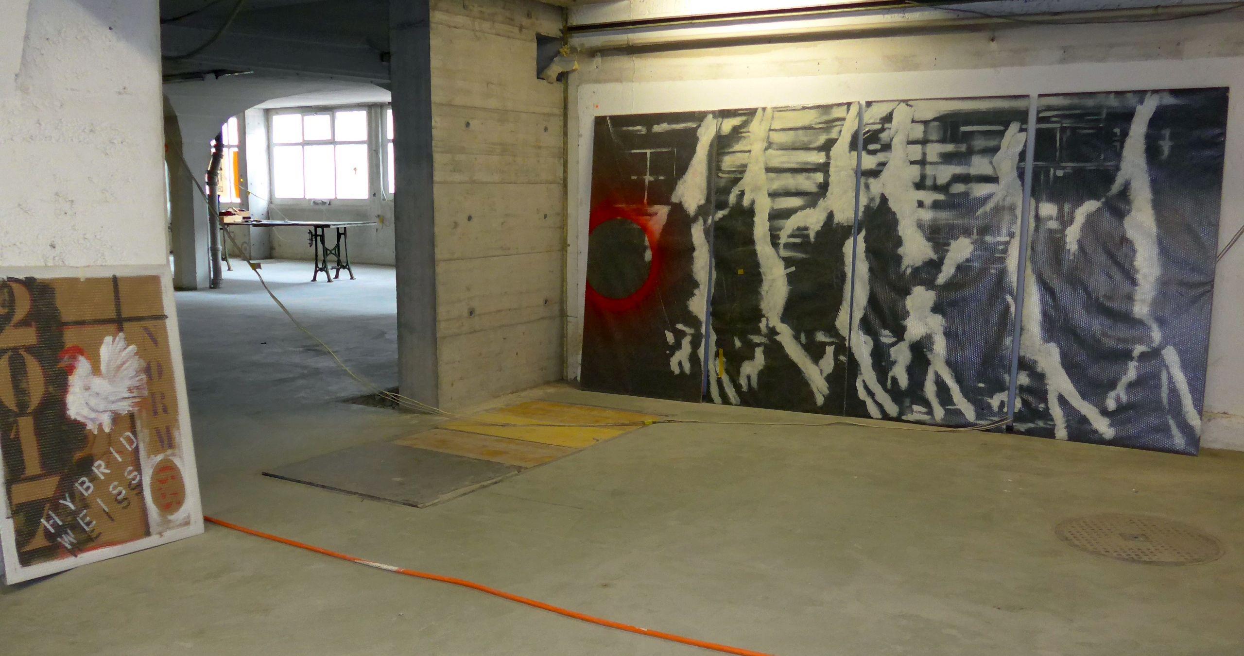 Baustelle Kunst: die Autogarage des ehemaligen UG24.