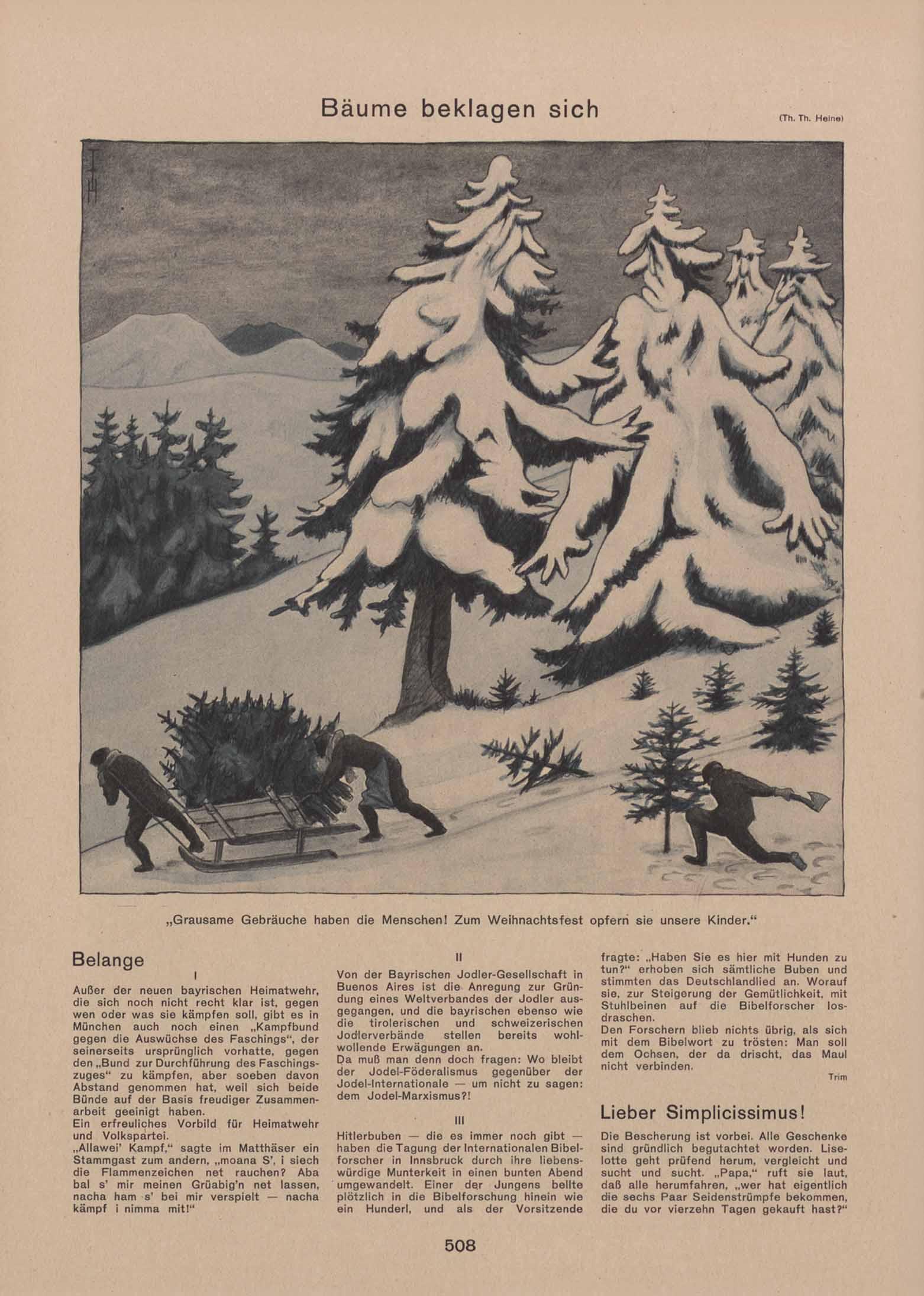 Klassenkampf unterm Christbaum – Saiten Ostschweizer Kulturmagazin